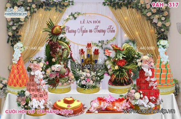 Báo giá lễ ăn hỏi 9 tráp Rồng Phượng 9AH-317