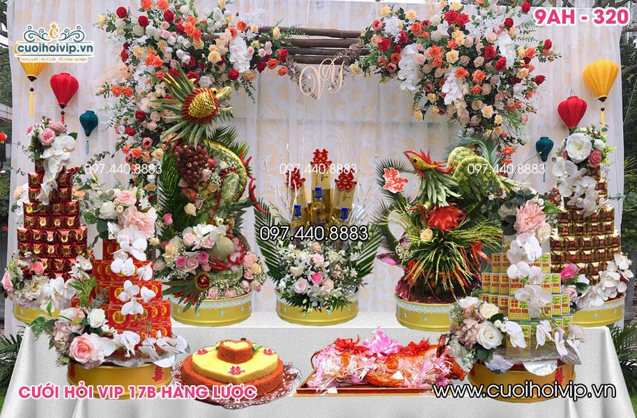 Tráp ăn hỏi 9 lễ Rồng Phượng 3D 9AH-320