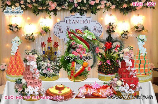 Tráp ăn hỏi 9 lễ Rồng Phượng chung 9AH-327
