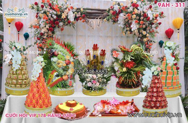 Tráp ăn hỏi 9 lễ Rồng Phượng riêng 9AH-311