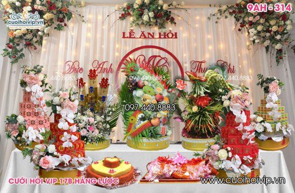 9 Tráp ăn hỏi Rồng Phượng truyền thống 9AH-314