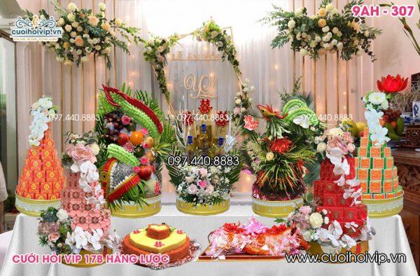 Tráp ăn hỏi 9 lễ Rồng Phượng 9AH-307