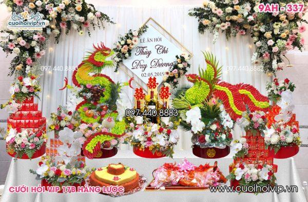 Lễ ăn hỏi 9 tráp Rồng Phượng cao cấp 9AH-337