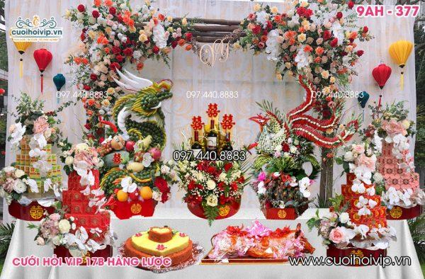 Lễ ăn hỏi 9 tráp Rồng Phượng 9AH-377
