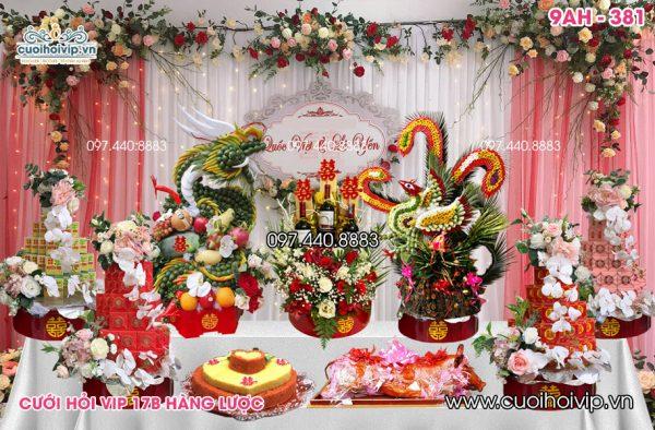 Tráp ăn hỏi 9 lễ Rồng Phượng 9AH-381