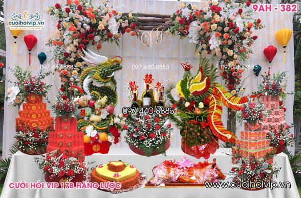 Lễ ăn hỏi 9 tráp Rồng Phượng 9AH-382