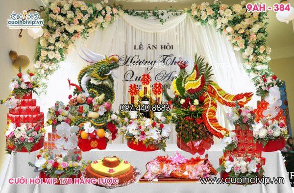 Tráp ăn hỏi 9 lễ Rồng Phượng 3D 9AH-384