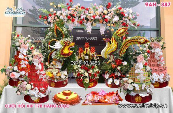 Tráp ăn hỏi Rồng Phượng Vip 9 lễ 9AH-387