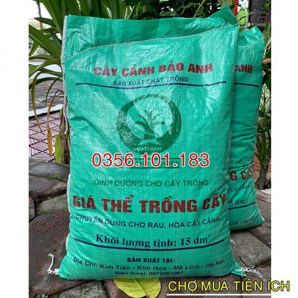 Đất Trồng Rau, Hoa, Cây Cảnh 15dm3 = 9,5kg